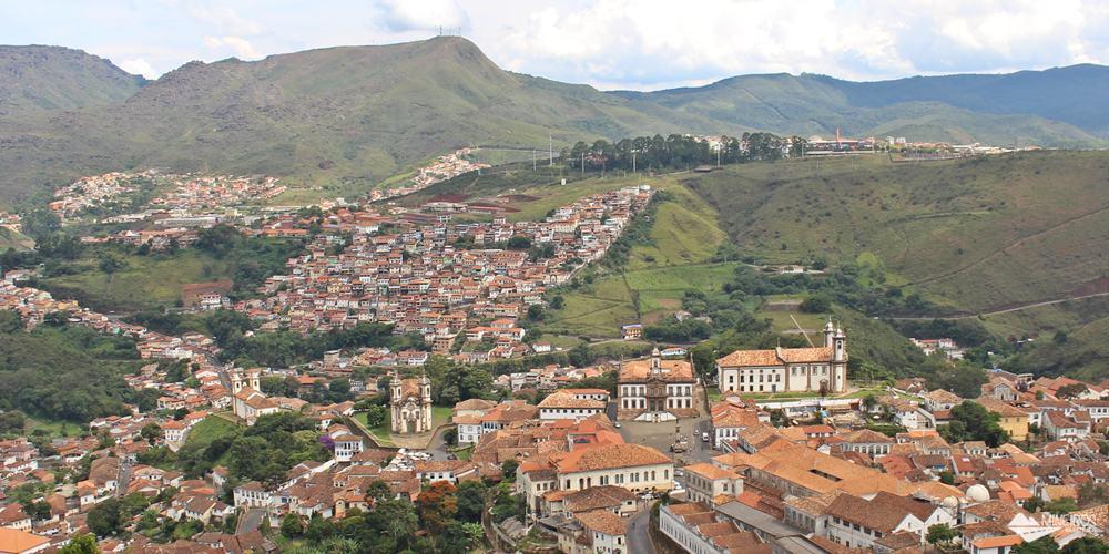 Ouro Preto, vista do Mirante do Morro de São Sebastião.
