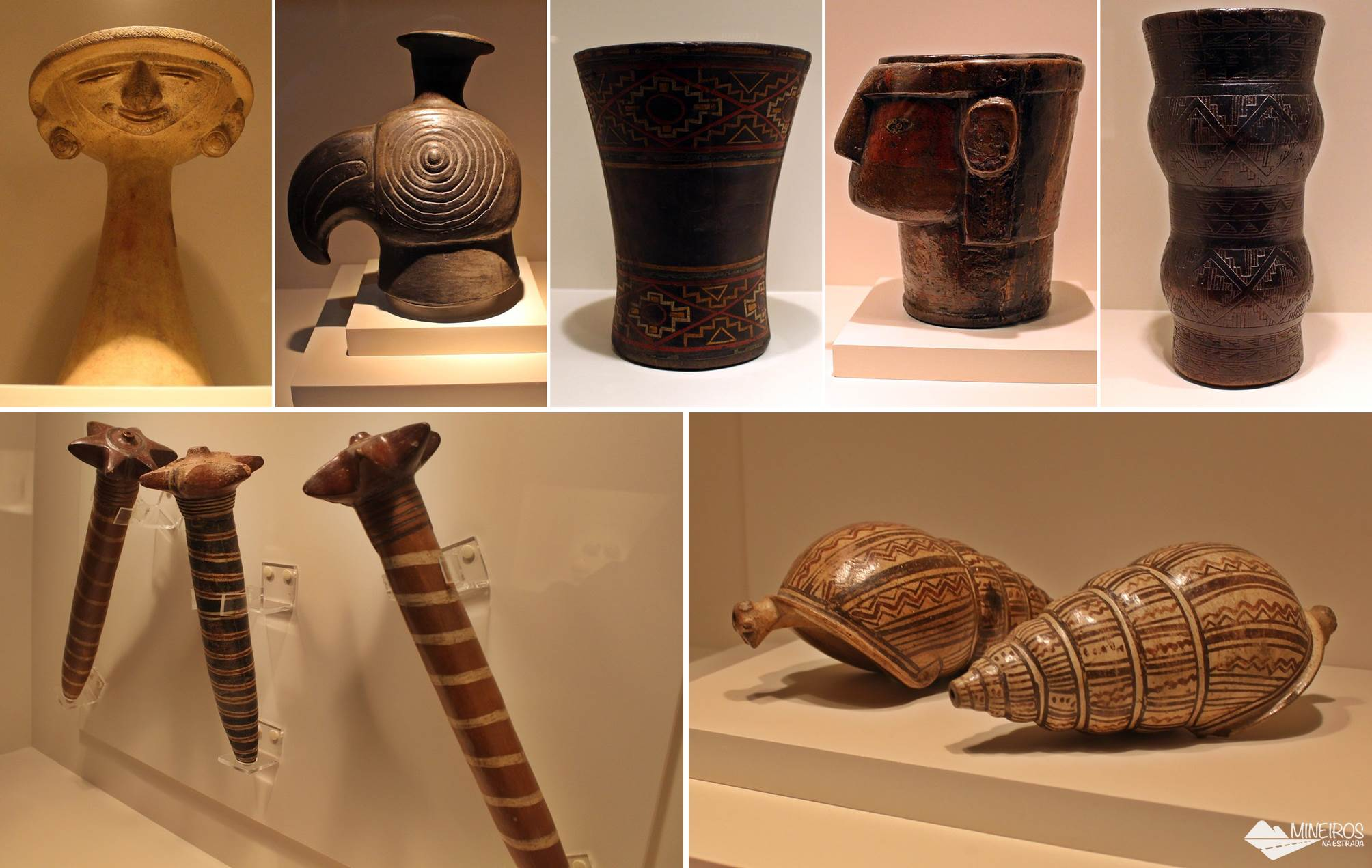 Objetos da Sala Inca, expostos no Museu de Arte Precolombino, em Cusco.
