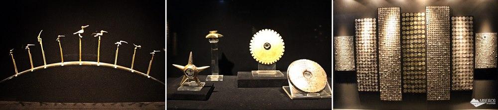 Objetos da Sala do Ouro, expostos no Museu de Arte Precolombino, em Cusco.
