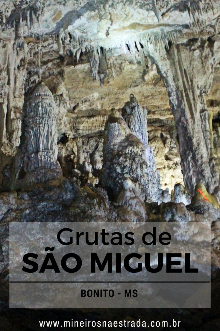 As Grutas de São Miguel em Bonito, são ricas em formações espeleológicas. É um passeio tranquilo, com pequena caminhada e muita contemplação.