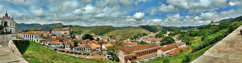 Ouro Preto, vista da mureta da Igreja Nossa Senhora das Mercês e Misericórdia.