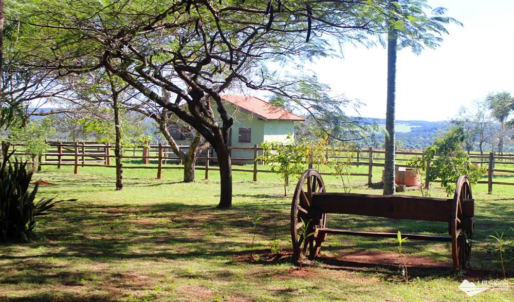 Área de descanso no Recanto Ecológico Rio da Prata.