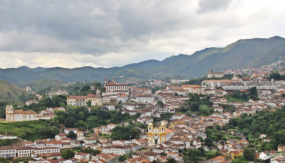 Ouro Preto, numa vista maravilhosa desde a Igreja Santa Efigênia.
