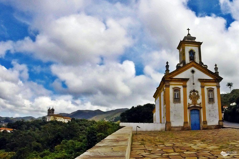 Igreja das Mercês e Misericórdia, ao lado do Museu da UFOP.