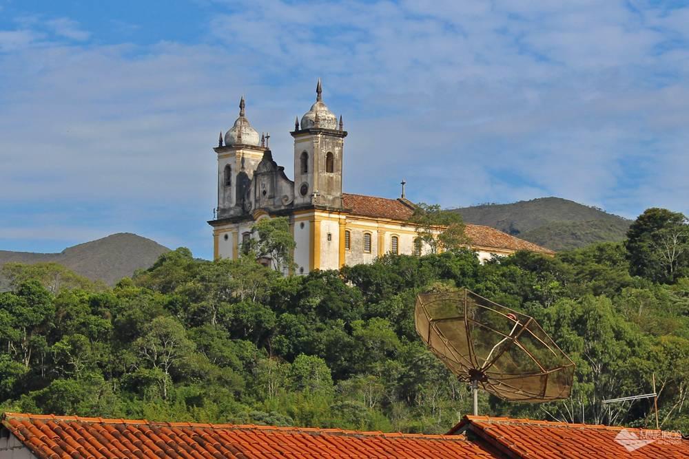 Igreja São francisco de Paula, vista da Pousada Clássica, em Ouro Preto.