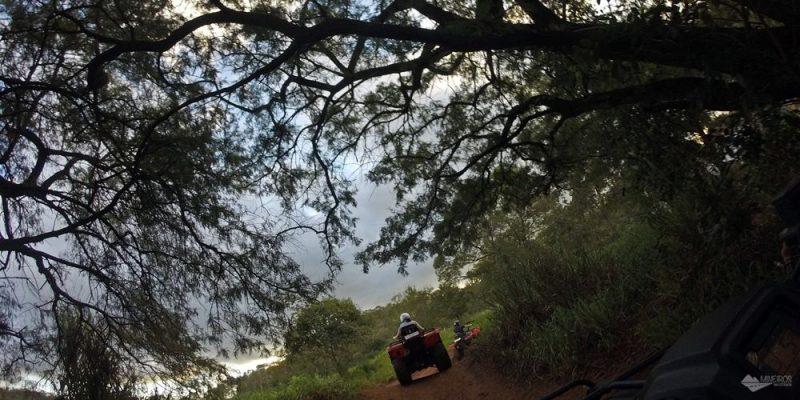 Passeio radical de quadriciclo na Trilha Boiadeira, em Bonito