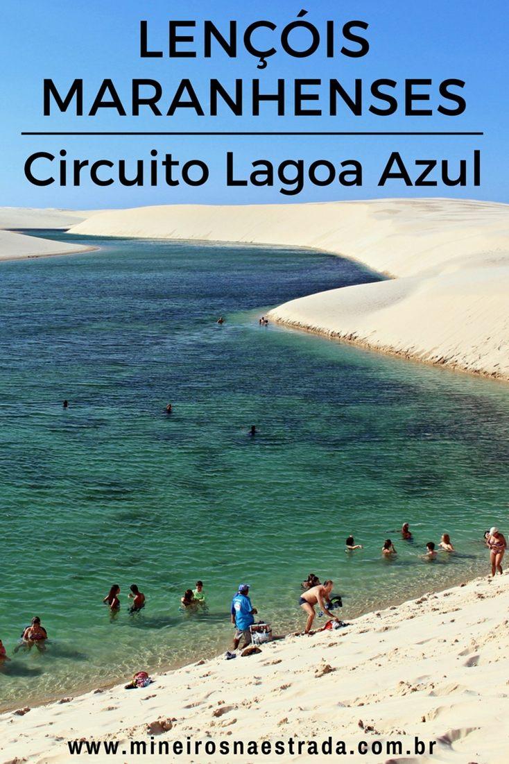 Como é o passeio pelo Circuito Lagoa Azul, no Parque Nacional dos Lençóis Maranhenses, partindo de Barreirinhas.