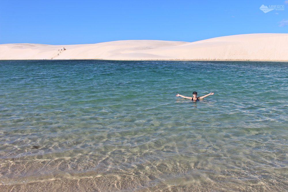 Circuito Lagoa Azul, no Parque Nacional dos Lençóis Maranhenses.