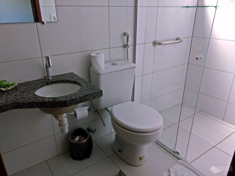 Banheiro da Pousada Paraíso dos Lençóis, em Barreirinhas, Maranhão.