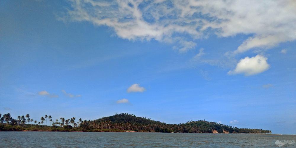 Ilha em formato de jacaré - Praia dos Carneiros - Pernambuco