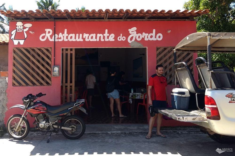 Restaurante do Gordo, em Santo Amaro do Maranhão, nos Lençóis Maranhenses.