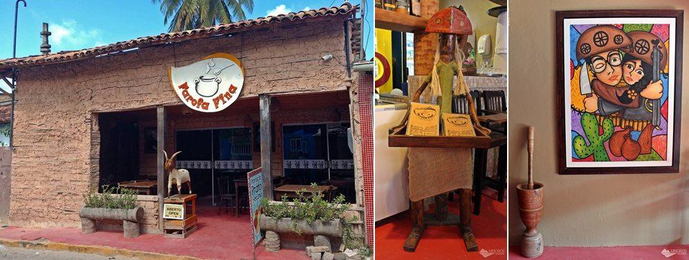 Restaurante Farofa Fina, em Porto de Galinhas