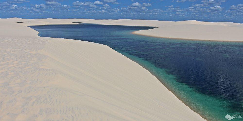 A parte do Parque Nacional dos Lençóis Maranhenses que fica em Santo Amaro do Maranhão é menos visitada. Vale um bate-volta de Barreirinhas.