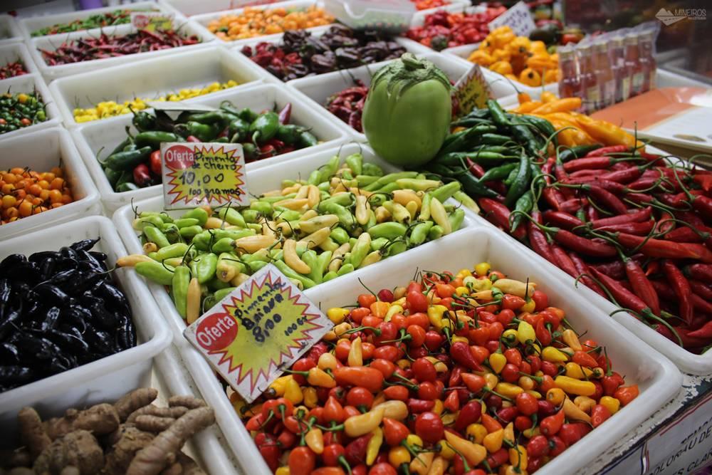 pimentas no Mercado Central de Belo Horizonte