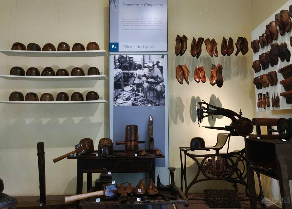 Museu de Artes e Ofícios - sapateiro e chapeleiro