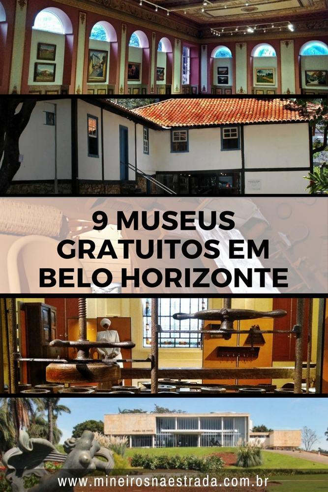 9 museus gratuitos em Belo Horizonte. Bônus: dois espaços com exposições temporárias, também grátis.