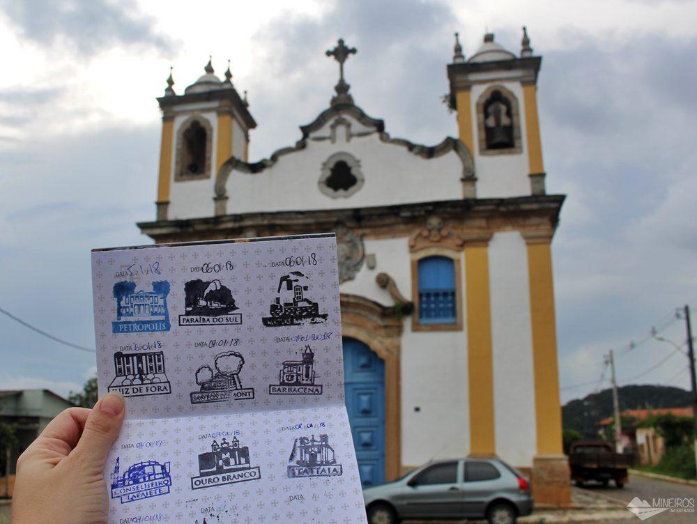 9º carimbo, em Itatiaia. O pictograma é a Igreja de Santo Antônio.