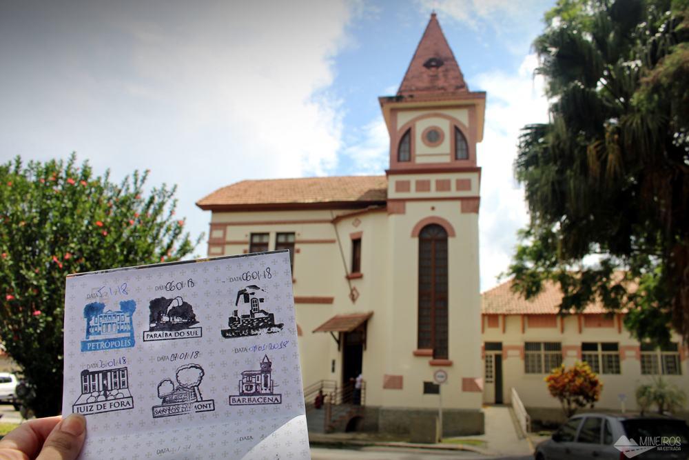 6º carimbo, em Barbacena. O pictograma é o Museu da Loucura.