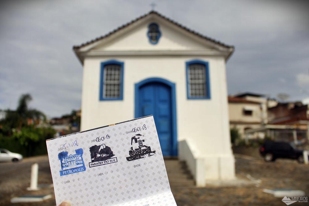 3º carimbo, em Matias Barbosa. Pictograma: Capela Nossa Senhora do Rosário.