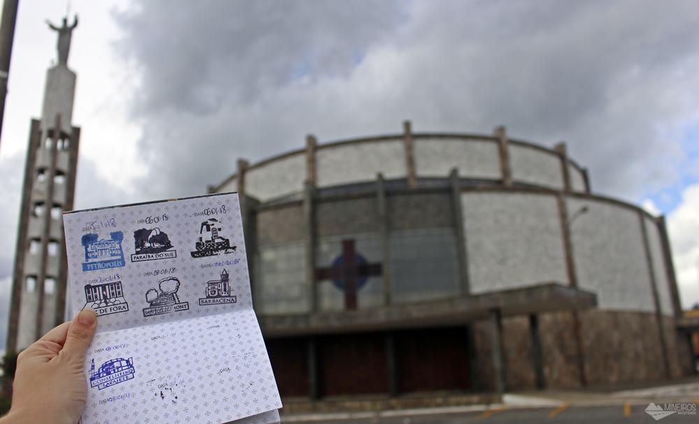 7º carimbo, em Conselheiro Lafaiete. O pictograma é a Basílica do Sagrado Coração de Jesus.