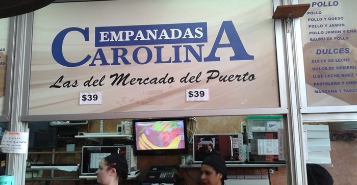 Empanadas Carolina, famosas no Mercado do Porto.