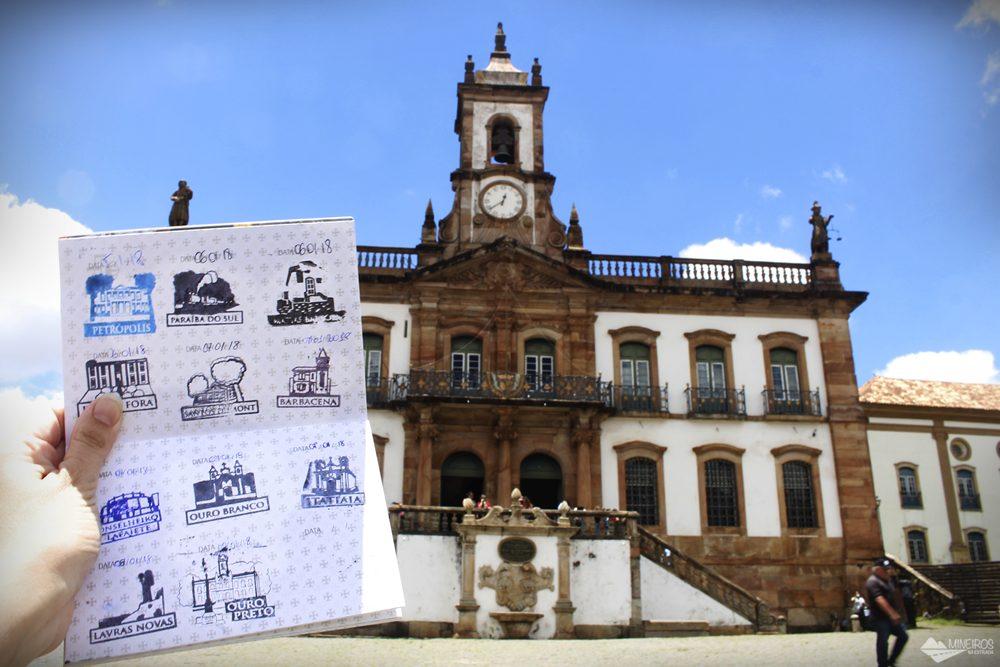 11º carimbo, em Ouro Preto. O pictograma é o Museu da Inconfidência.
