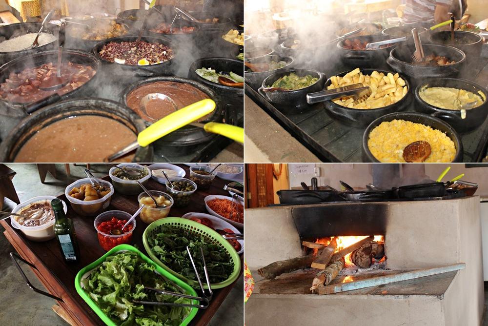 Comida mineira no Restaurante da Joana, em Bichinho, distrito de Prados, próximo a Tiradentes.