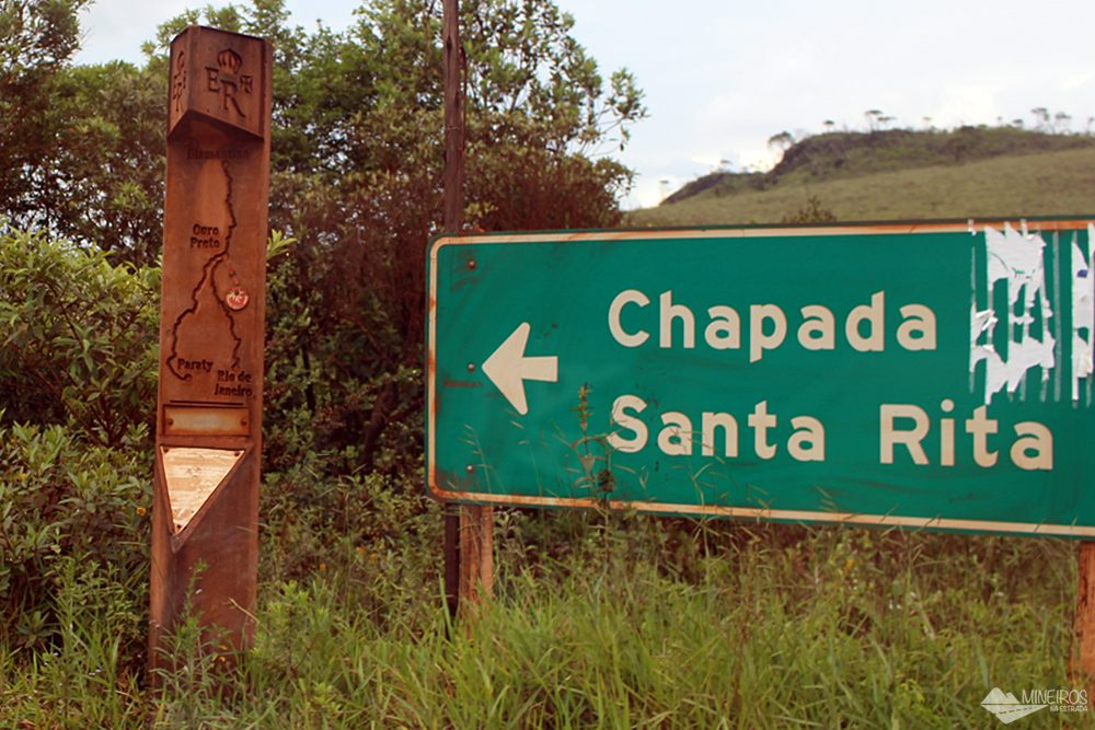 Entrada para Chapada e Santa Rita, em Ouro Preto