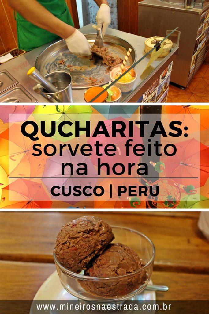 Na Sorveteira Qucharitas, em Cusco, o sorvete é fabricado na hora, na frente do cliente. Uma boa opção de onde comer em Cusco.