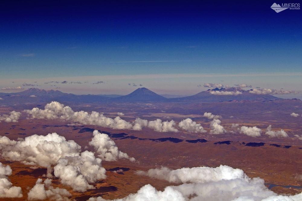 Vista Aerea Andes voo para Peru