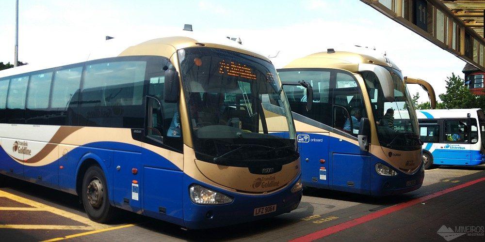 Como ir de ônibus de Dublin para Belfast