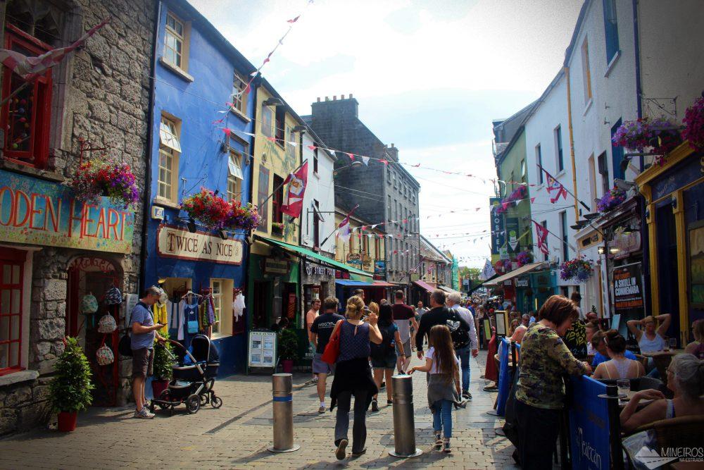 Fizemos um tour para os Cliffs of Moher, um dos lugares mais lindos da Irlanda, passando depois pela cidade de Galway.