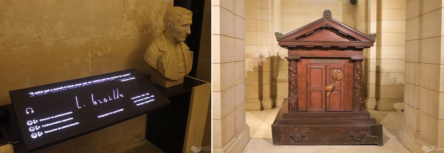 cripta do panteao Braille Rousseau