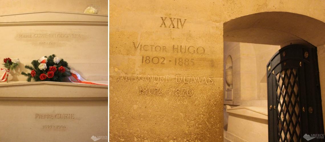 cripta do panteao Marie Curie Victor Hugo