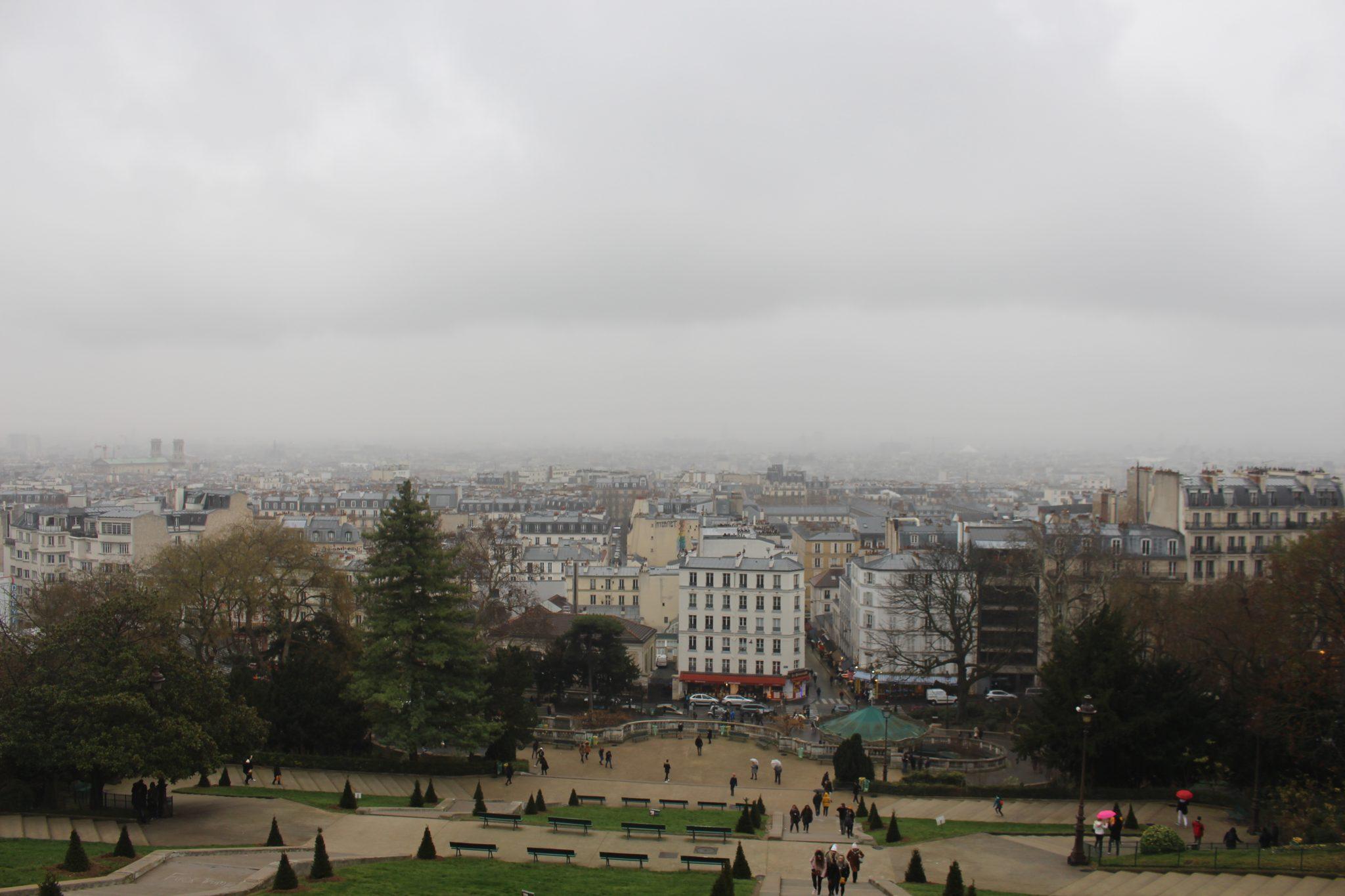 Montmarte Paris neblina