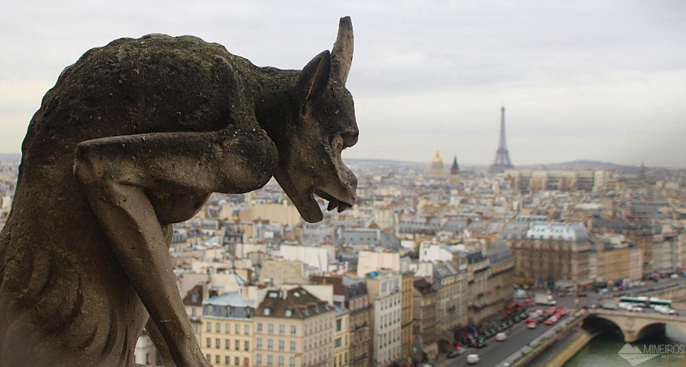 Vista da Torre de Notre Dame, em Paris
