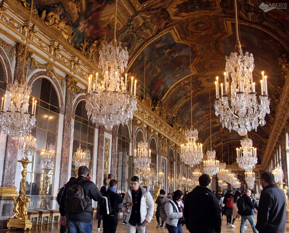 Sala dos Espelhos, Palácio de Versalhes, França