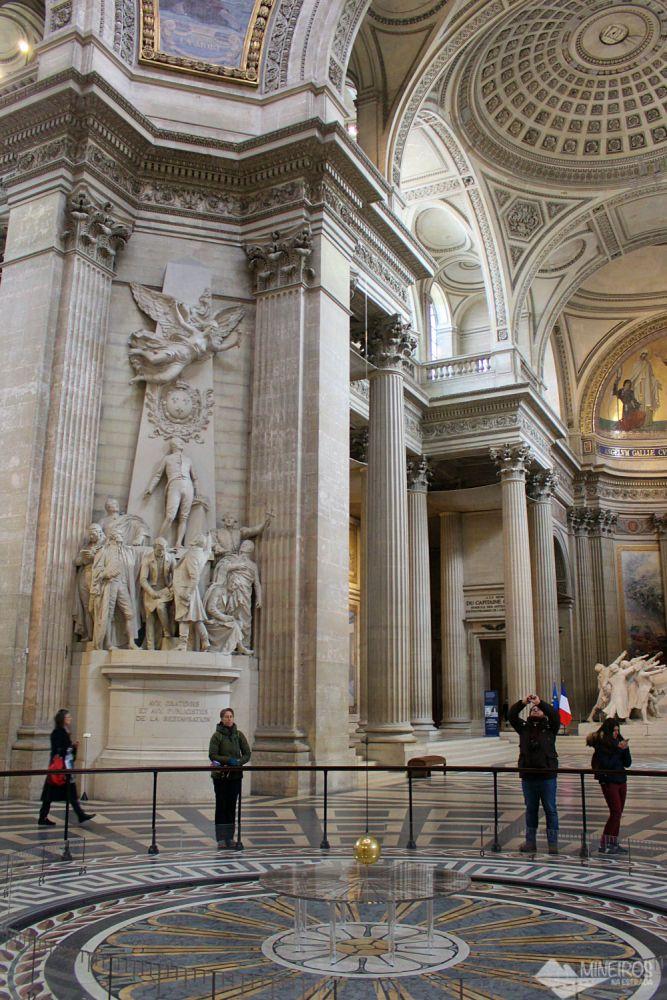 Pêndulo de Foucault no Panteão Paris