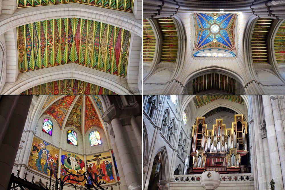 Interior da Catedral de la Almudena, Madri