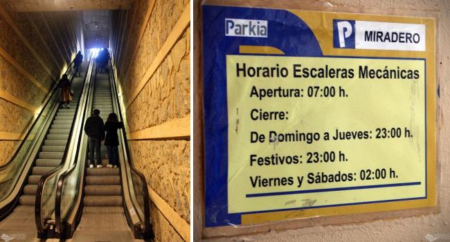 Escadas rolantes para o centro histórico de Toledo