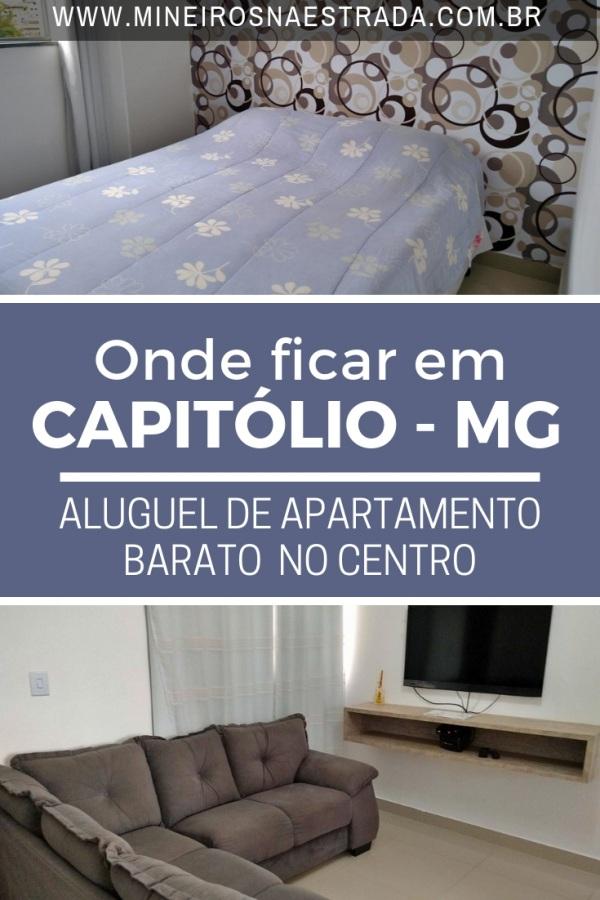 Dica de apartamento barato em Capitólio. Apartamento lindo, limpo e no centro da cidade. Ótimo para quem vai visitar os Cânions de Furnas.