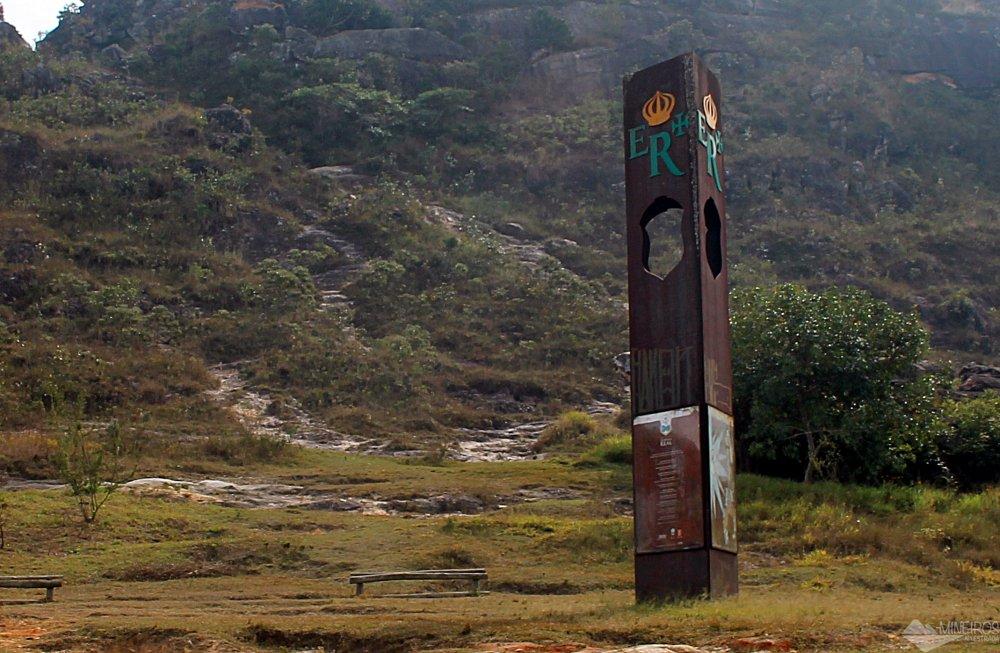 Marco Zero do Projeto Estrada Real, entre São João del Rei e Tiradentes