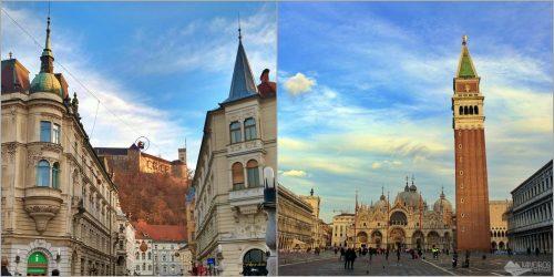 Como ir de ônibus de Liubliana a Veneza