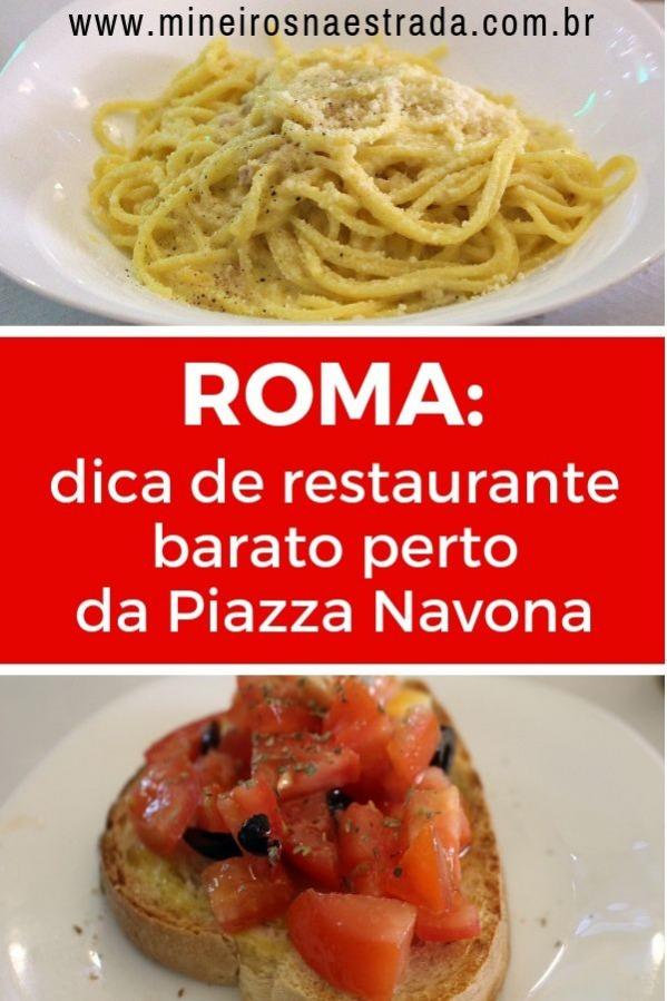 Dica de restaurante perto da Piazza Navona, em Roma. Lugar simples, frequentado pelos locais, com boa comida e preço baixo.