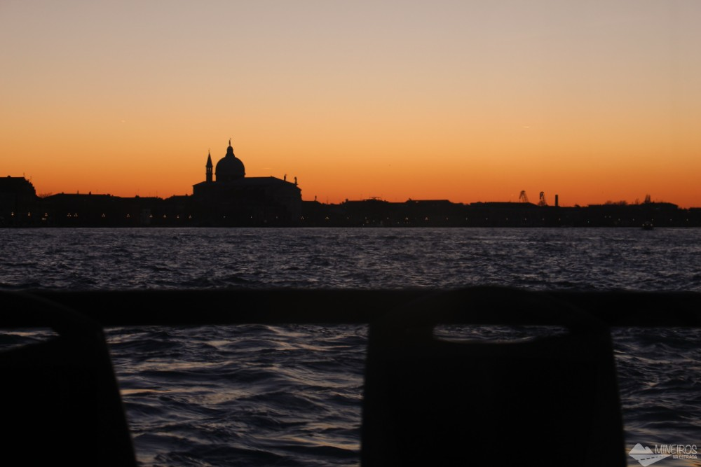 Por do sol em Veneza