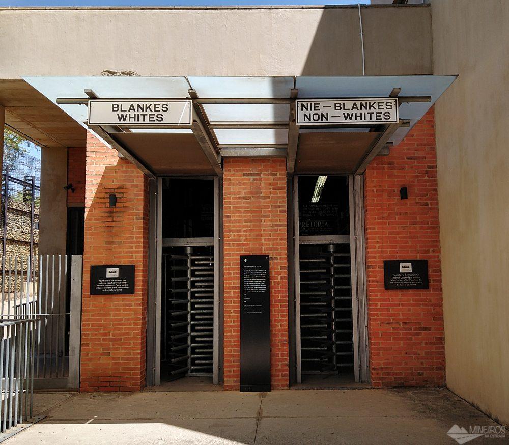 Museu do Apartheid, em Joanesburgo