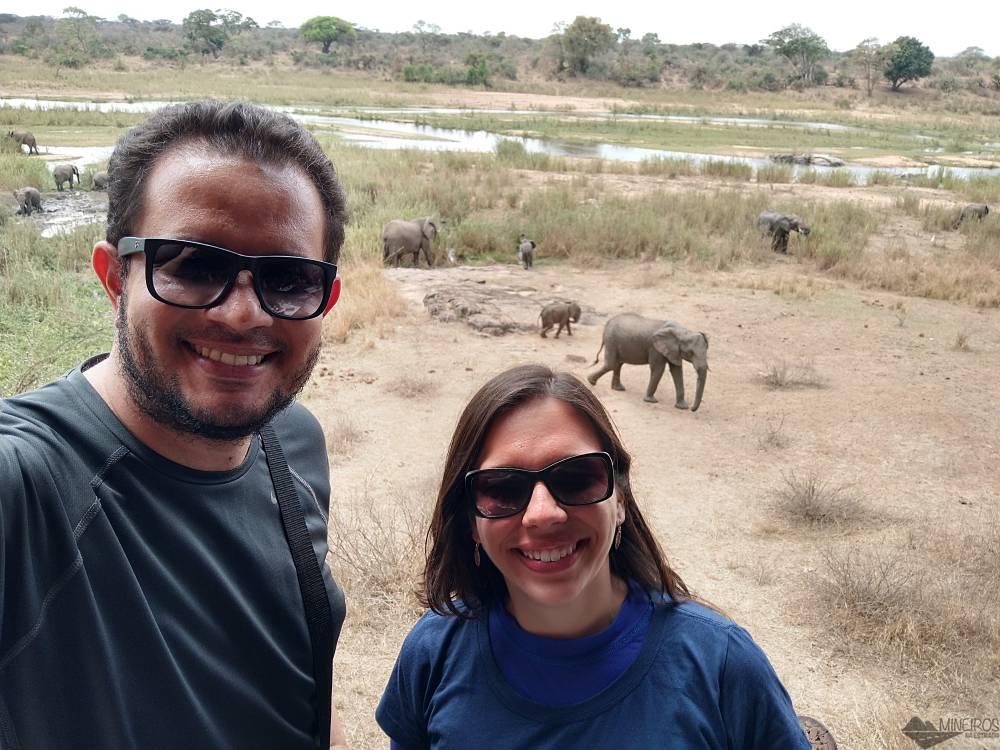 selfie com elefante