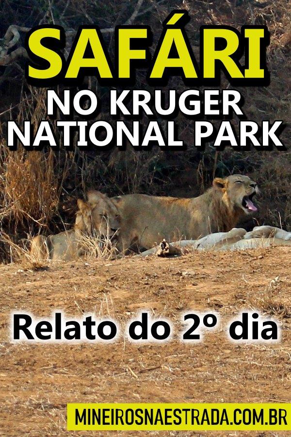 Como foi nosso 2º dia de safári por contra própria no Kruger National Park. Por onde passamos, onde comemos e quais animais vimos.